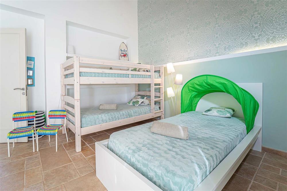 Family bedroom at Villa Can Bobis Gran, Pollensa, Mallorca