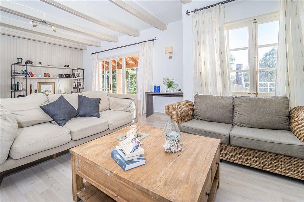 Living room at Villa Can Bobis Gran, Pollensa, Mallorca