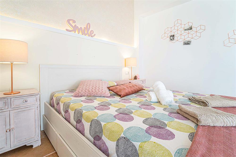 One of the many bedrooms at Villa Can Bobis Gran, Pollensa, Mallorca