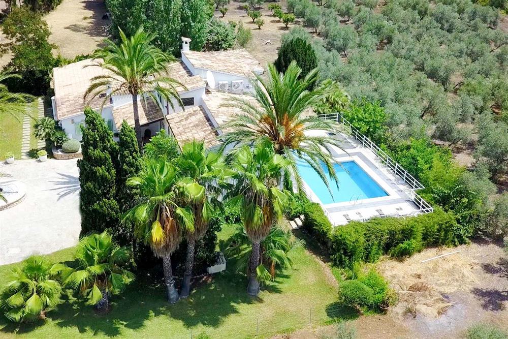 Villa Can Bobis Gran from above at Villa Can Bobis Gran, Pollensa, Mallorca