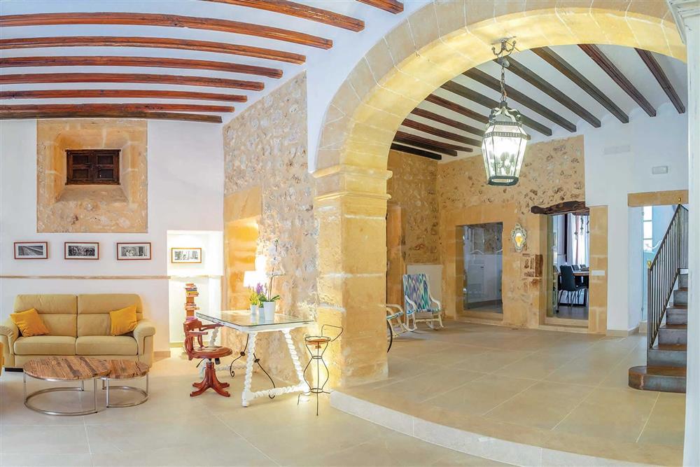 Inside Villa Can Butxaca at Villa Can Butxaca, Pollensa, Mallorca