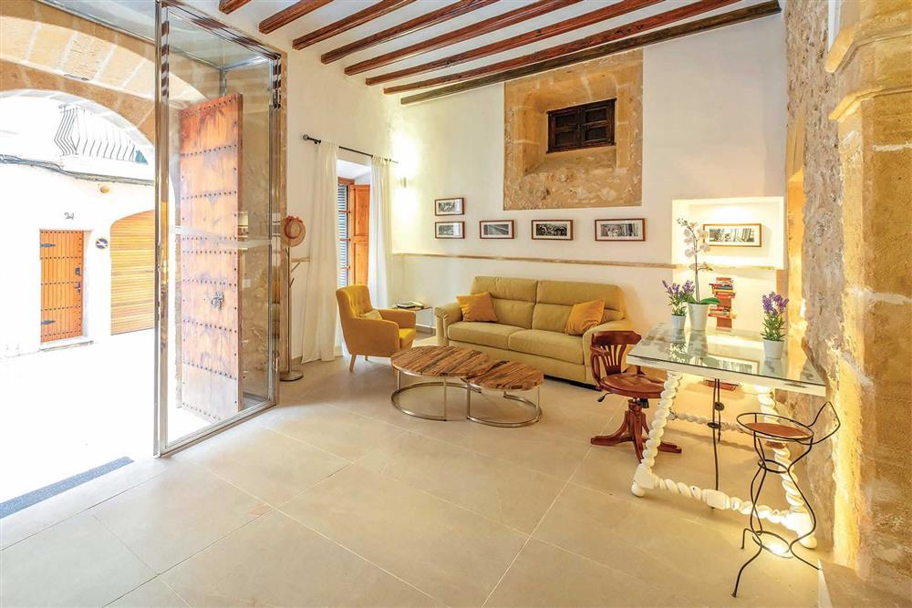 Living room at Villa Can Butxaca, Pollensa, Mallorca