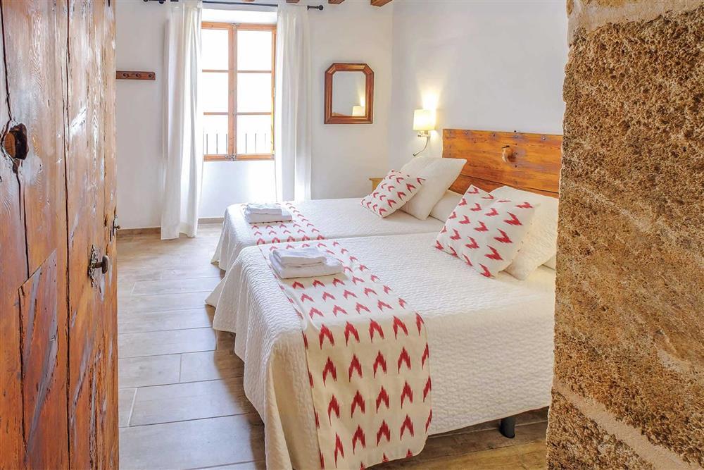 One of the bedrooms at Villa Can Butxaca, Pollensa, Mallorca