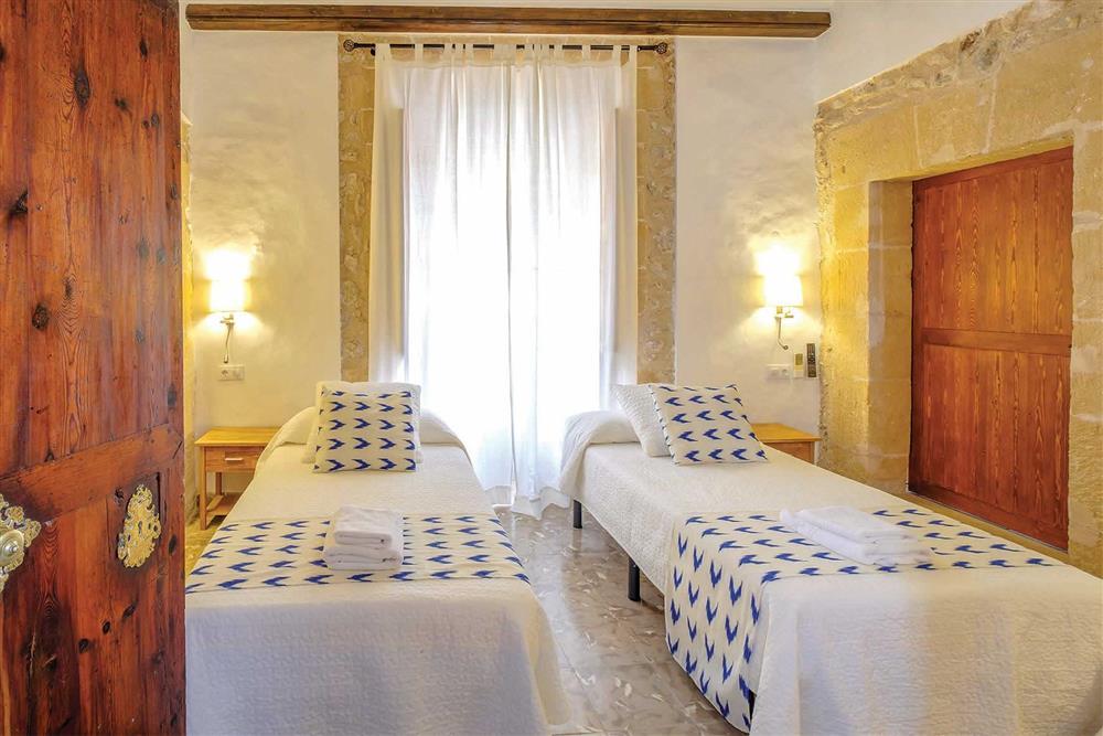 Twin bedroom at Villa Can Butxaca, Pollensa, Mallorca