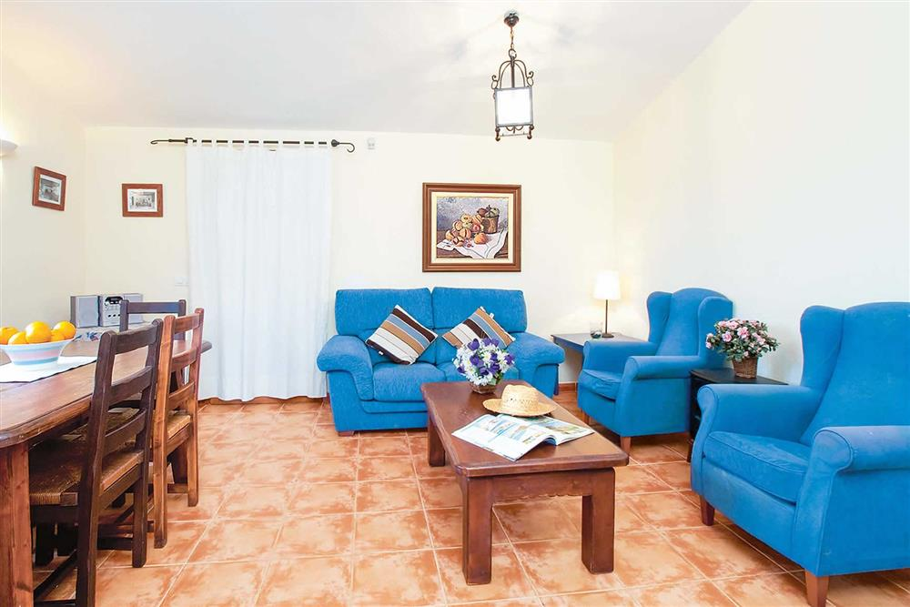 Living room at Villa Can Canaveret, The Balearic Islands, Spain