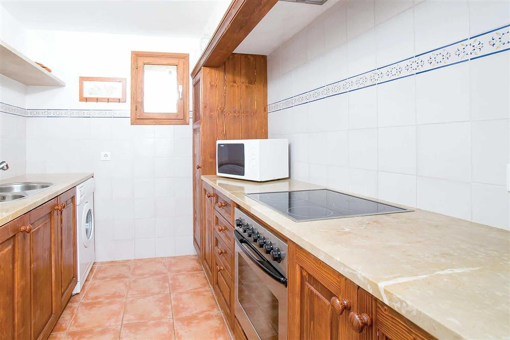 The kitchen at Villa Can Canaveret, The Balearic Islands, Spain