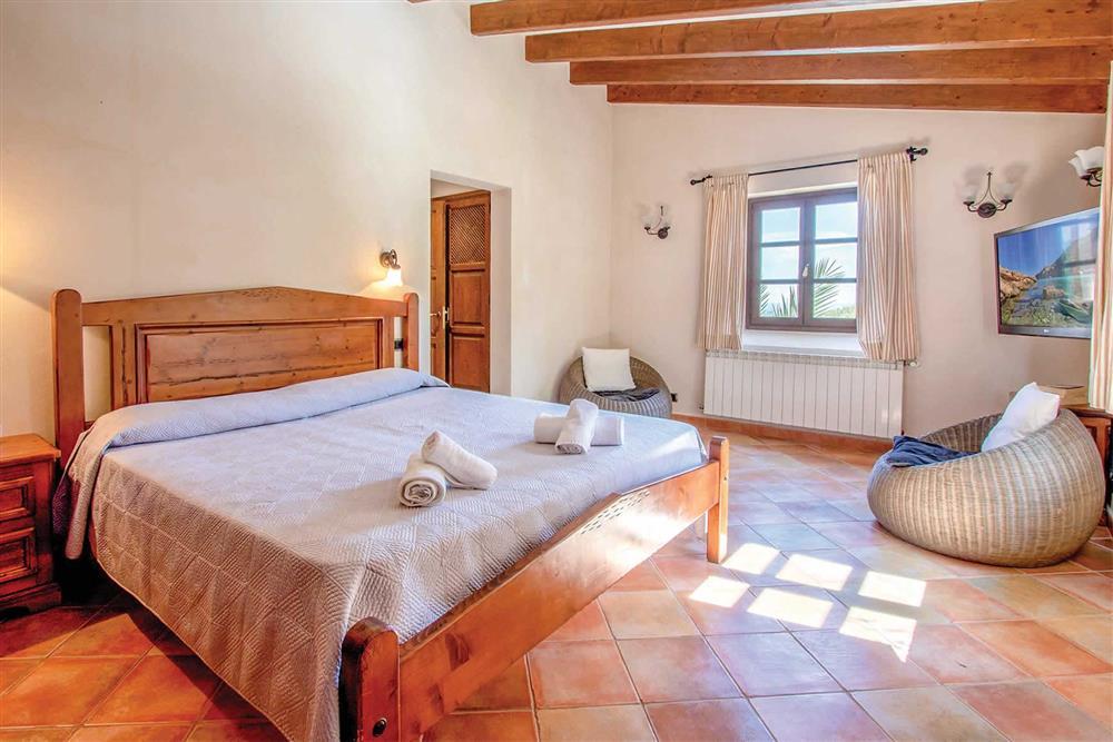 Double bedroom at Villa Can Gallardo, Pollensa, Mallorca
