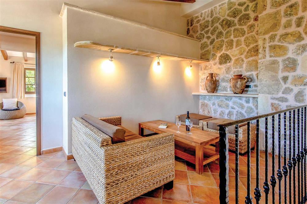 Seating area at Villa Can Gallardo, Pollensa, Mallorca
