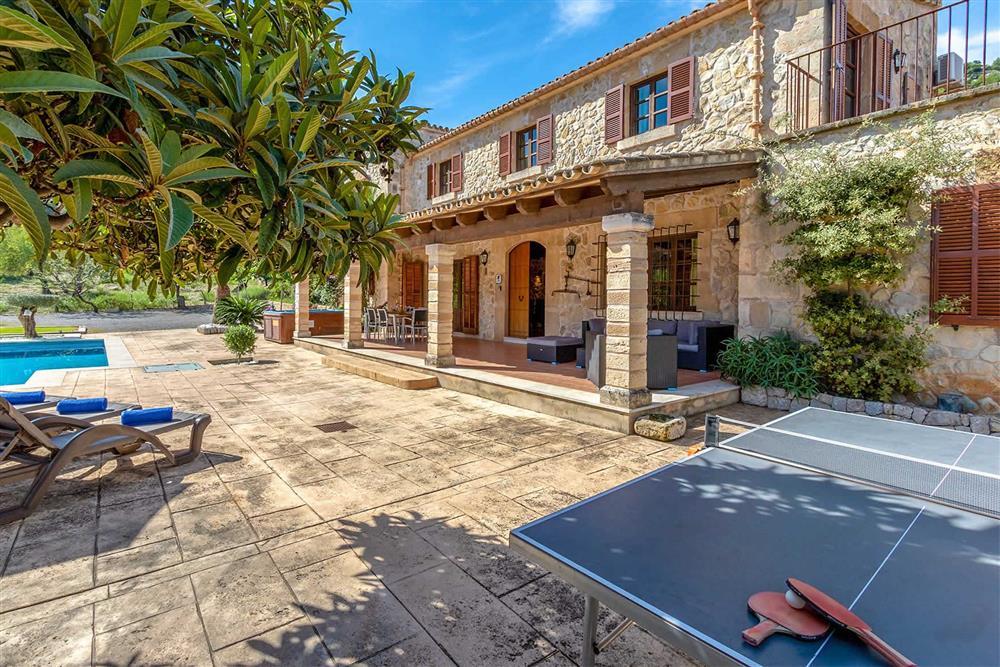 Villa exterior, table tennis at Villa Can Gallardo, Pollensa, Mallorca