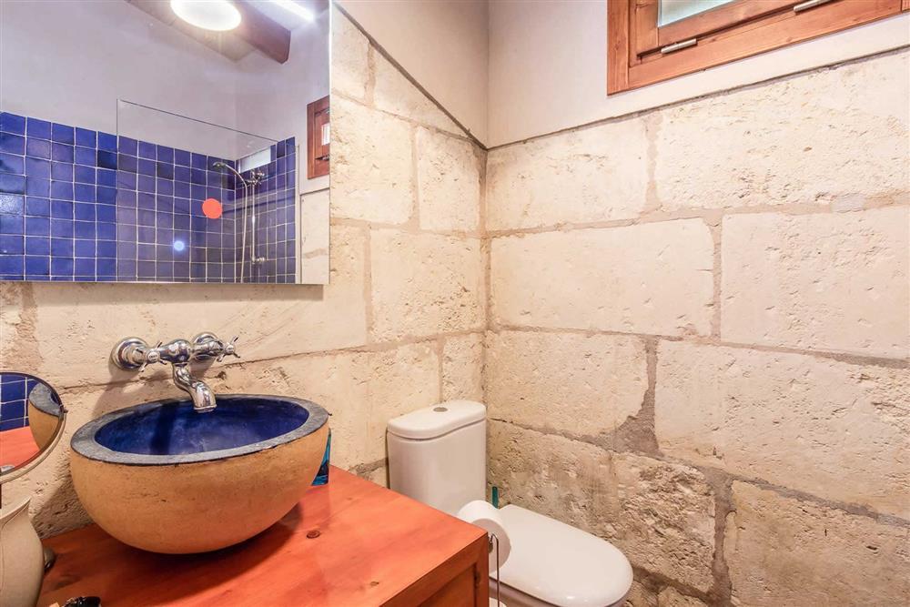 Bathroom at Villa Can Gardo, Pollensa, Mallorca