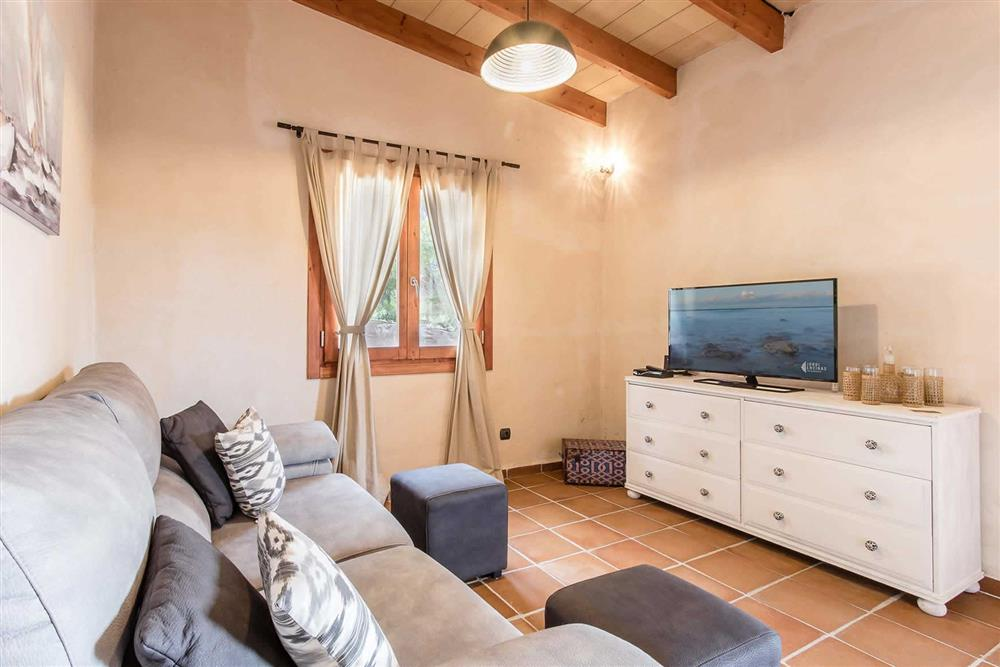 Living room at Villa Can Gardo, Pollensa, Mallorca