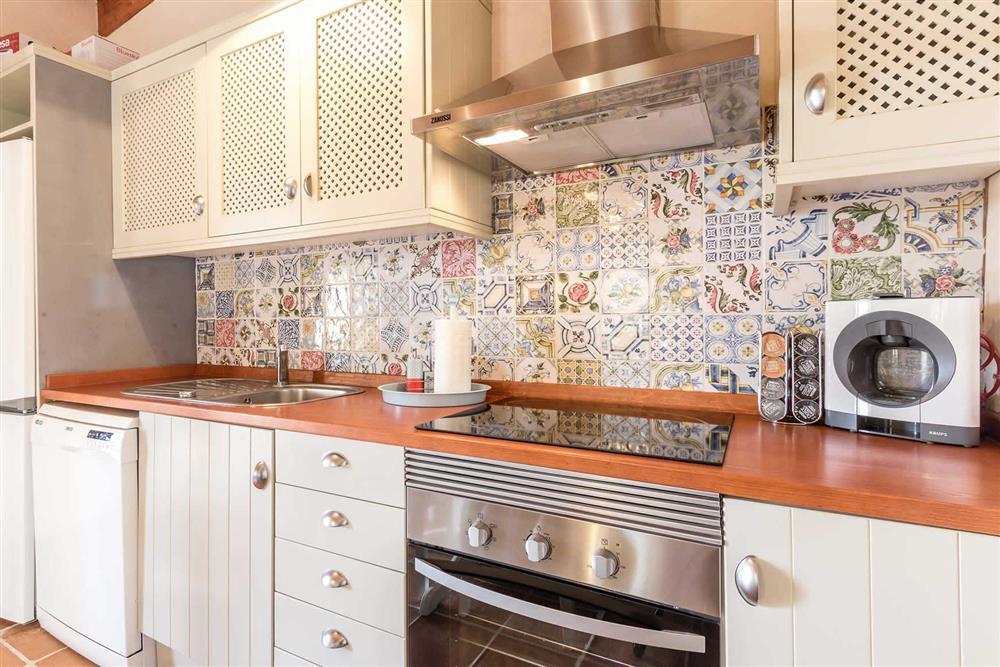The kitchen at Villa Can Gardo, Pollensa, Mallorca