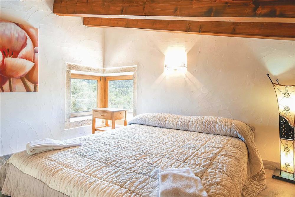 Double bedroom at Villa Can Nicolau, Cala San Vicente, Mallorca
