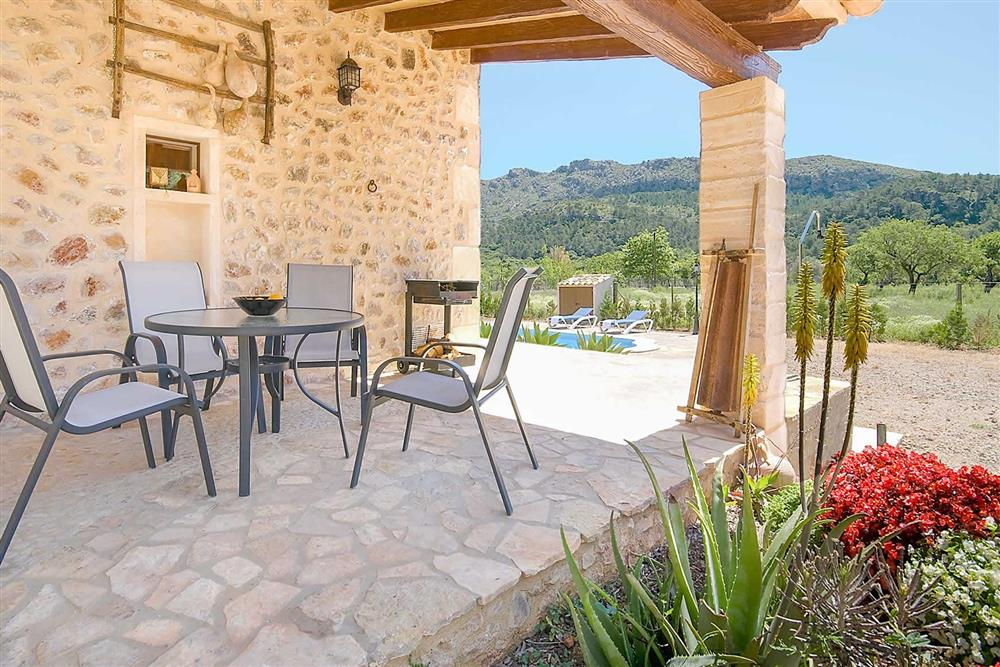 Outside seating with a view at Villa Can Nicolau, Cala San Vicente, Mallorca
