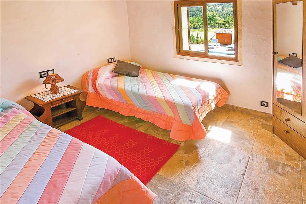 Twin bedroom at Villa Can Nicolau, Cala San Vicente, Mallorca