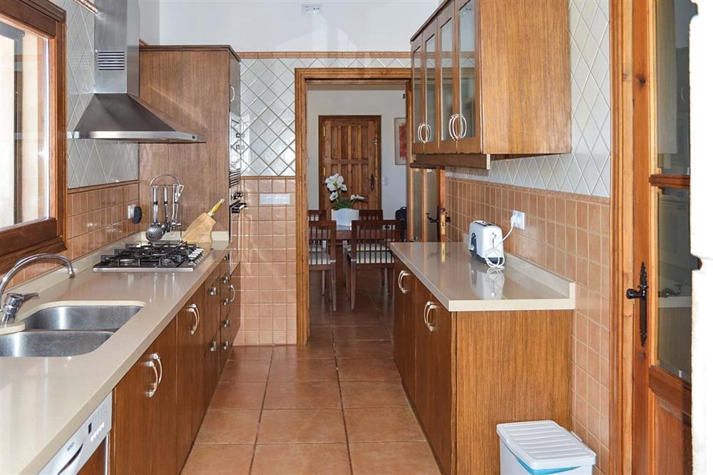 The kitchen at Villa Can Segue, Alcudia, Mallorca