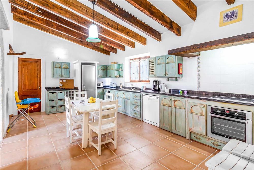 The kitchen at Villa Can Segue Dos, Alcudia, Mallorca