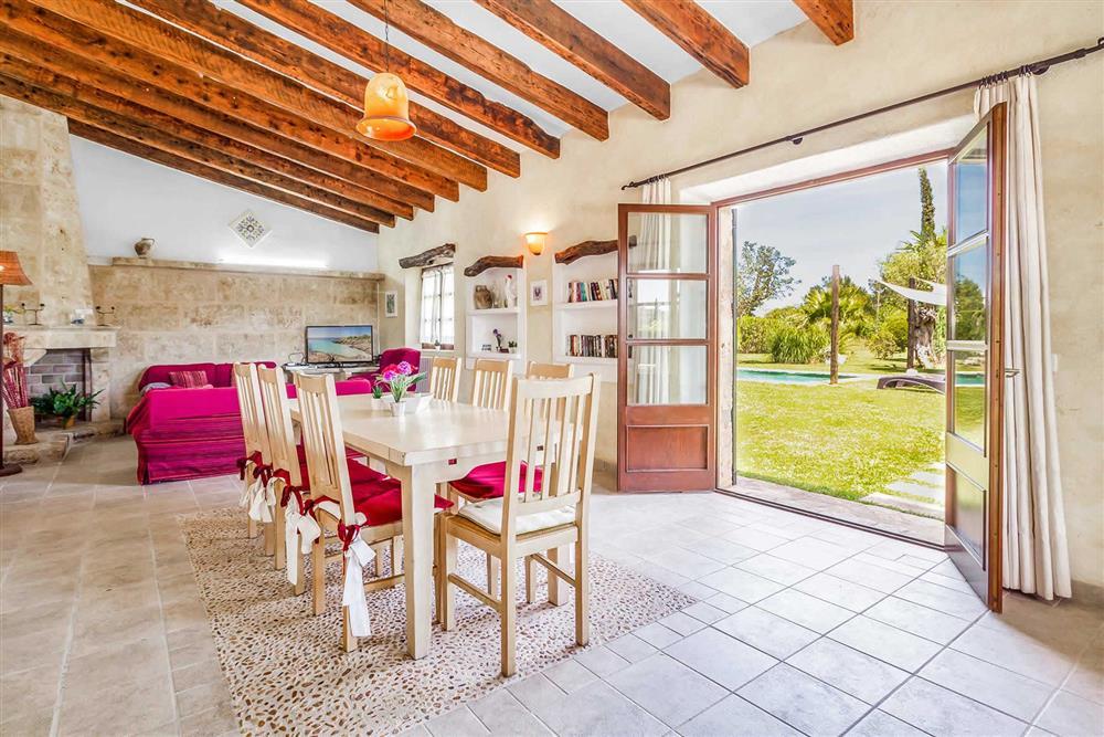 The living area at Villa Can Segue Dos, Alcudia, Mallorca