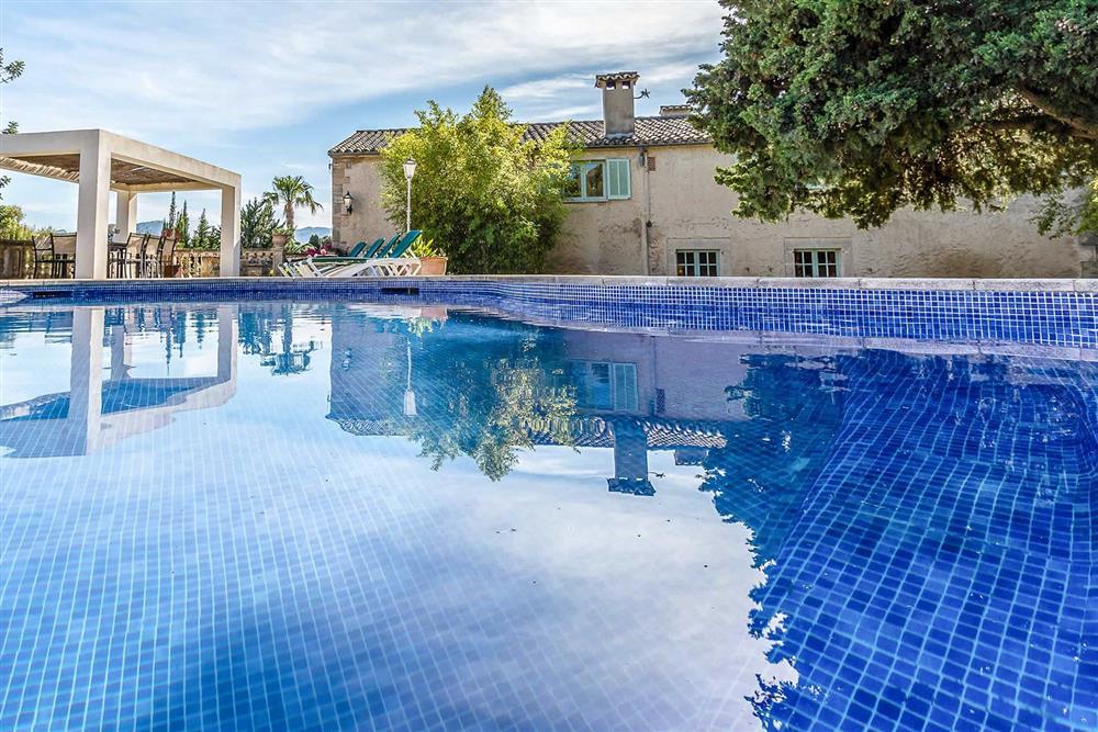 Swimming pool at Villa Can Segui, Puerto Pollensa, Mallorca