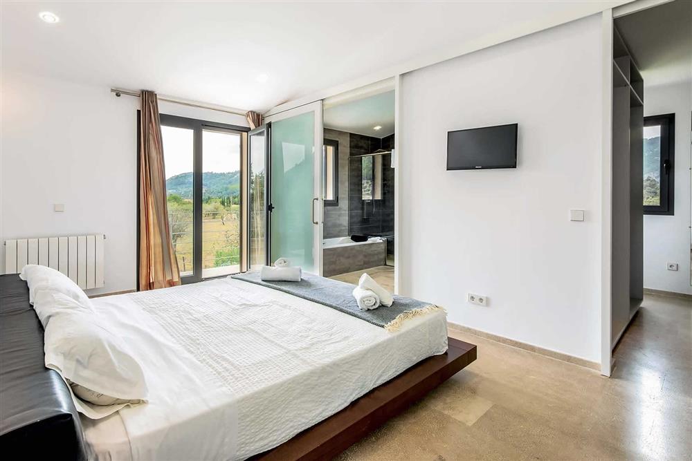 Double bedroom at Villa Can Tereu, Pollensa, Mallorca