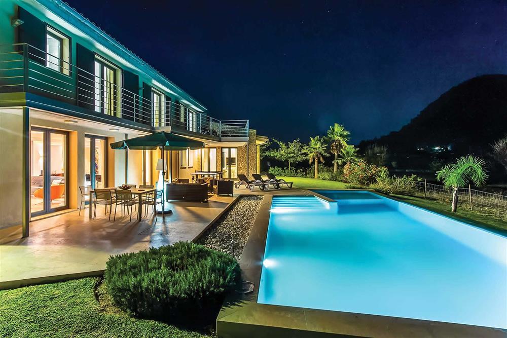 Night shot, villa with pool, pool (photo 2) at Villa Can Tereu, Pollensa, Mallorca