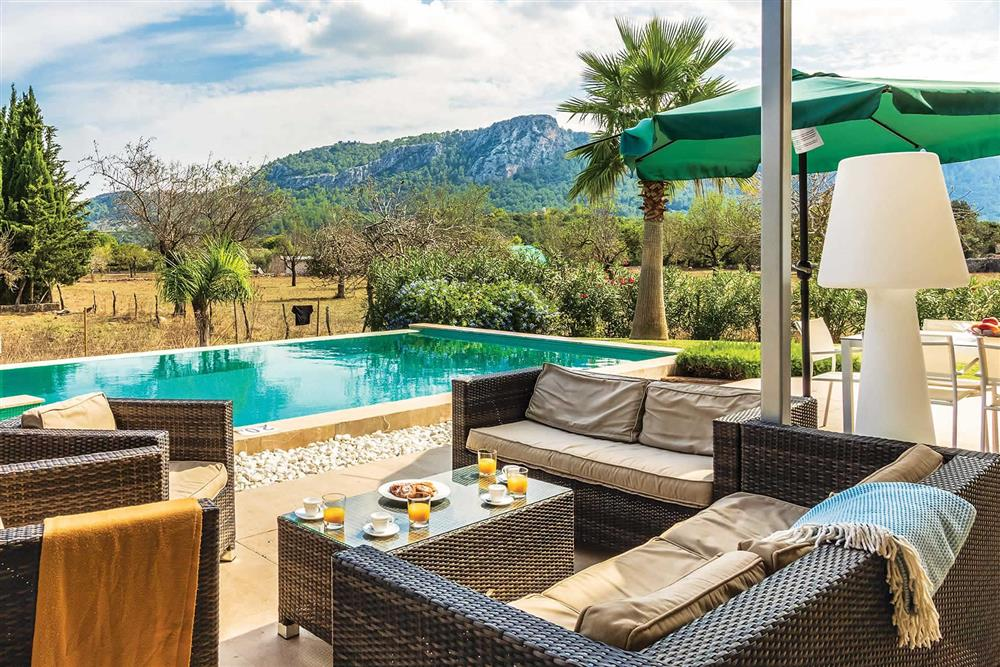 Seating area, pool at Villa Can Tereu, Pollensa, Mallorca