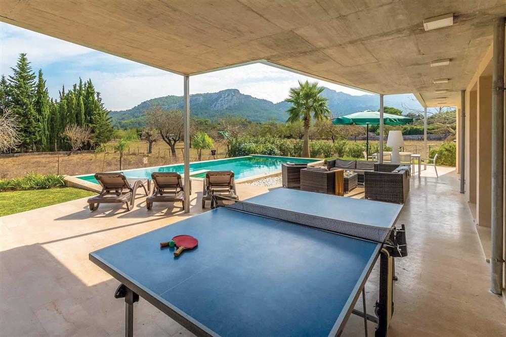 Table tennis, pool at Villa Can Tereu, Pollensa, Mallorca