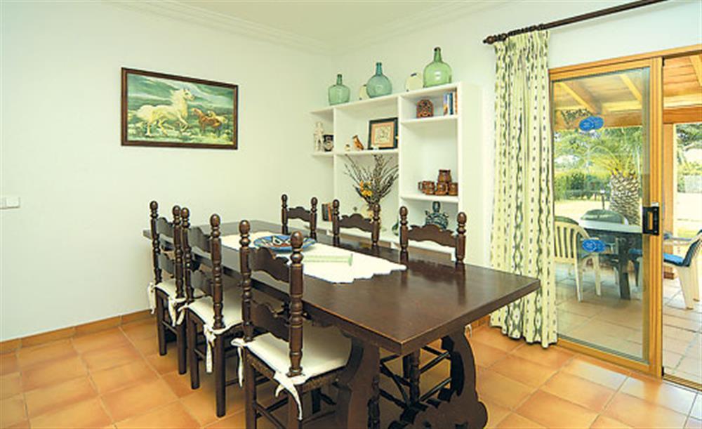 Dining room at Villa Can Vilar, Pollensa Mallorca, Spain