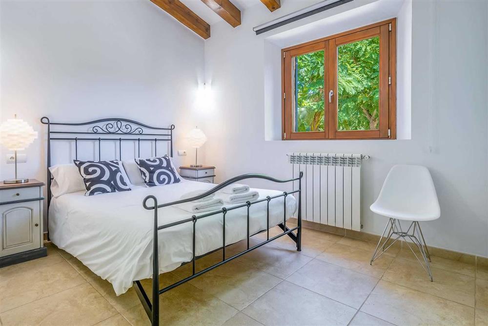 One of the double bedrooms at Villa Canacati, Pollensa, Mallorca