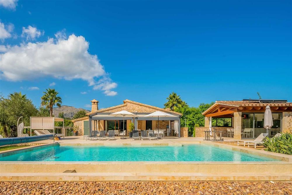 Swimming pool at Villa Canacati, Pollensa, Mallorca