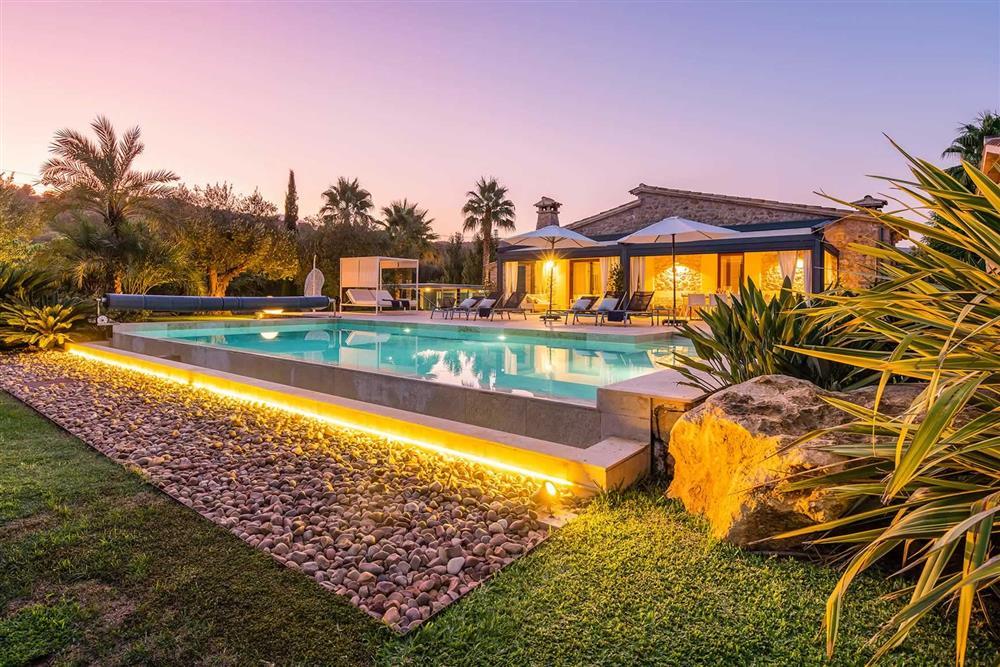 The pool at Villa Canacati, Pollensa, Mallorca