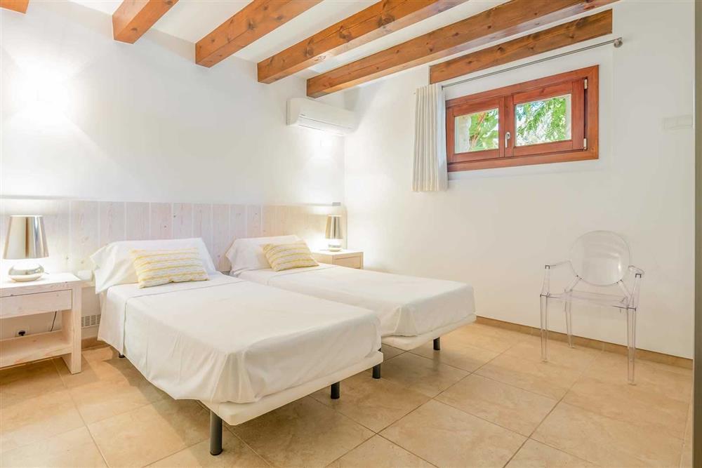 Twin bedroom at Villa Canacati, Pollensa, Mallorca