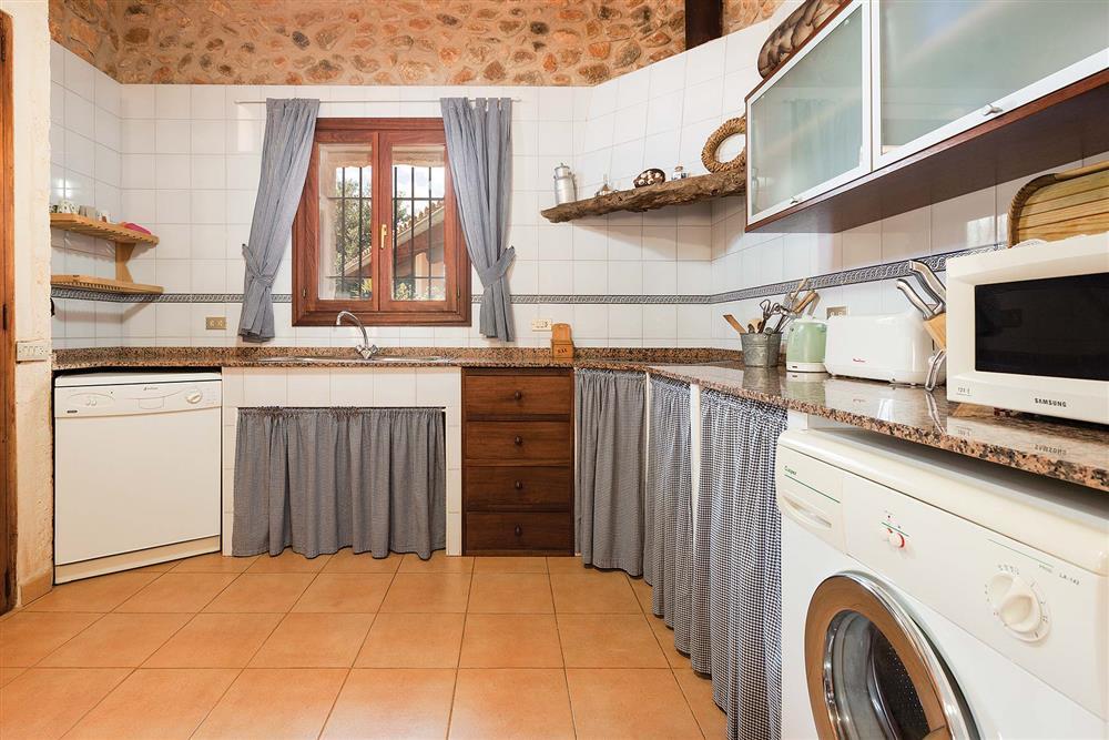 The kitchen at Villa Carratxet, Sa Pobla, Mallorca