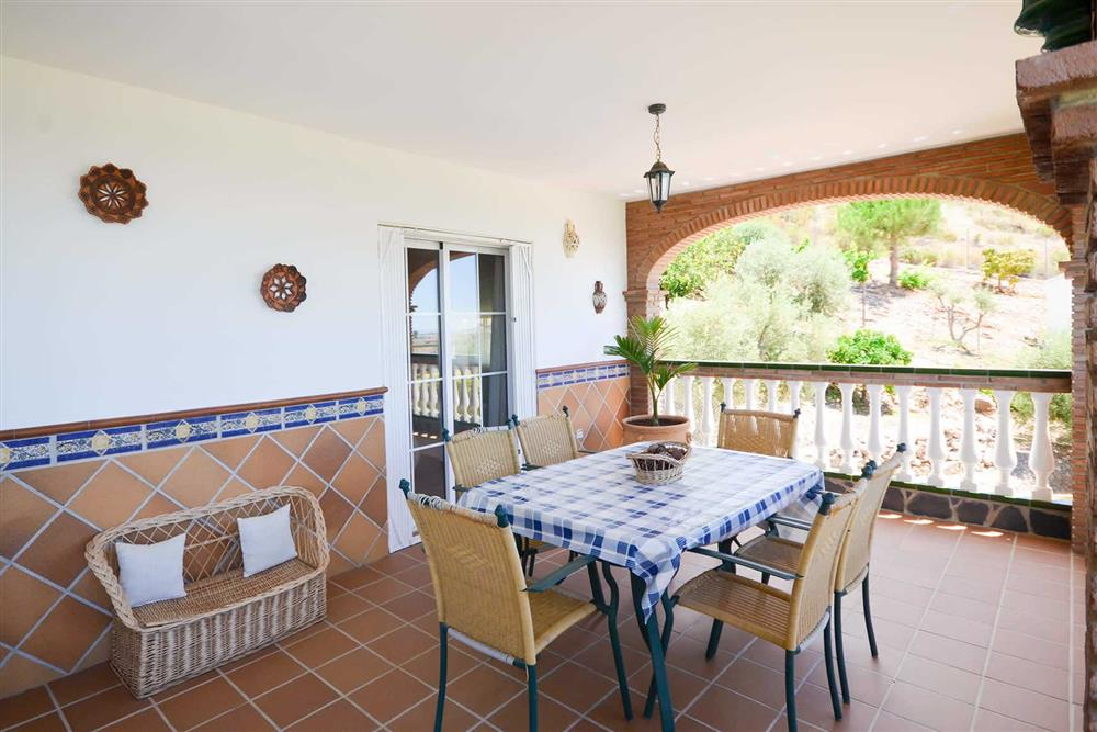 Covered terrace, seating area at Villa Casa Dalia, Nerja, Andalucia