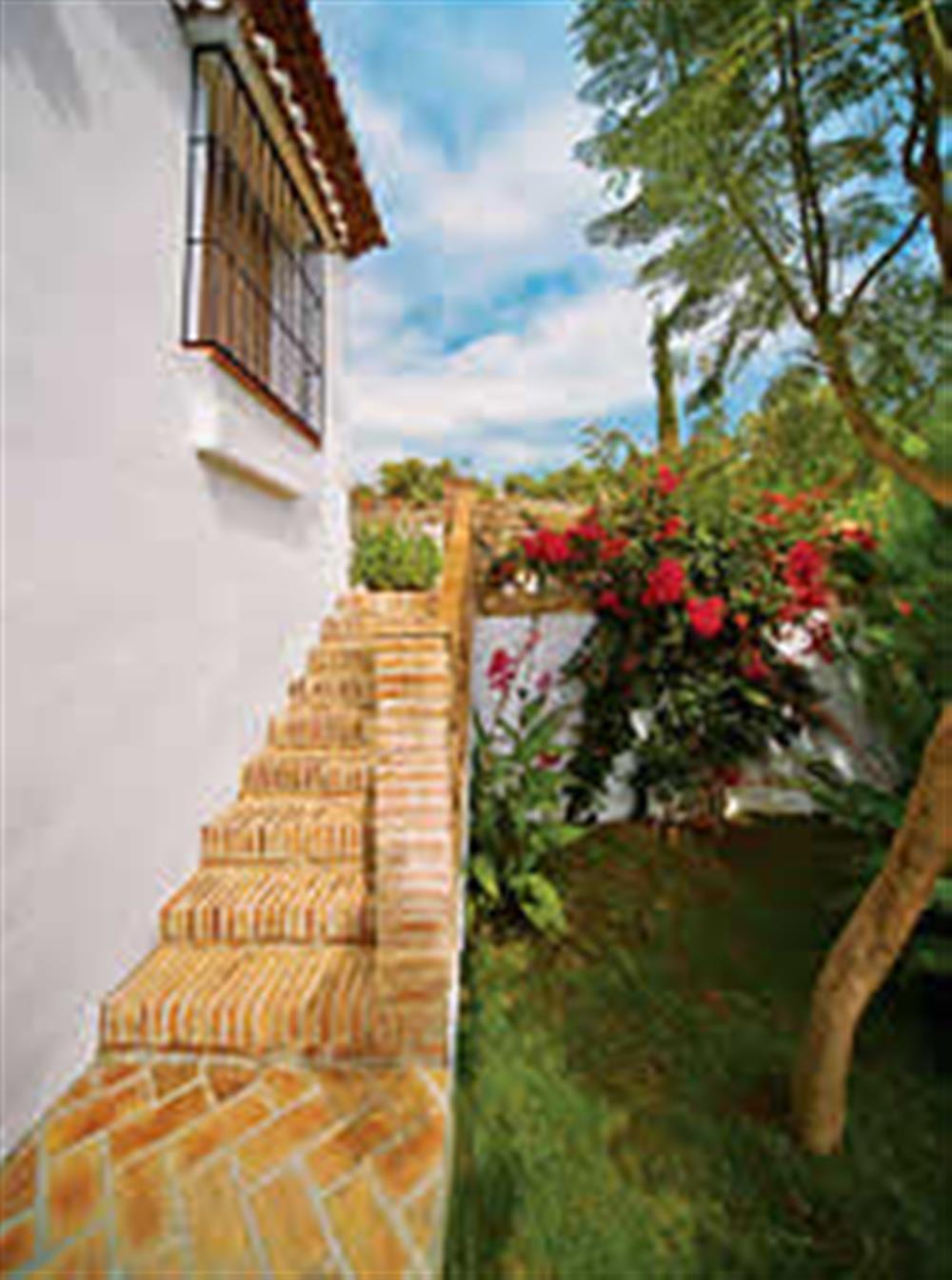 Garden at Villa Casa Jorge, Frigiliana, Andalucia, Spain