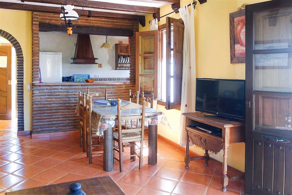 Kitchen/diner at Villa Casa Jorge, Frigiliana, Andalucia, Spain