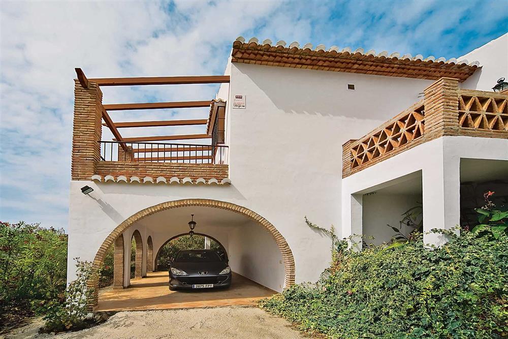 Off road car parking, villa exterior at Villa Casa Jorge, Frigiliana, Andalucia, Spain