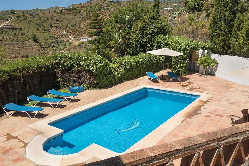 Pool, rural at Villa Casa Jorge, Frigiliana, Andalucia, Spain
