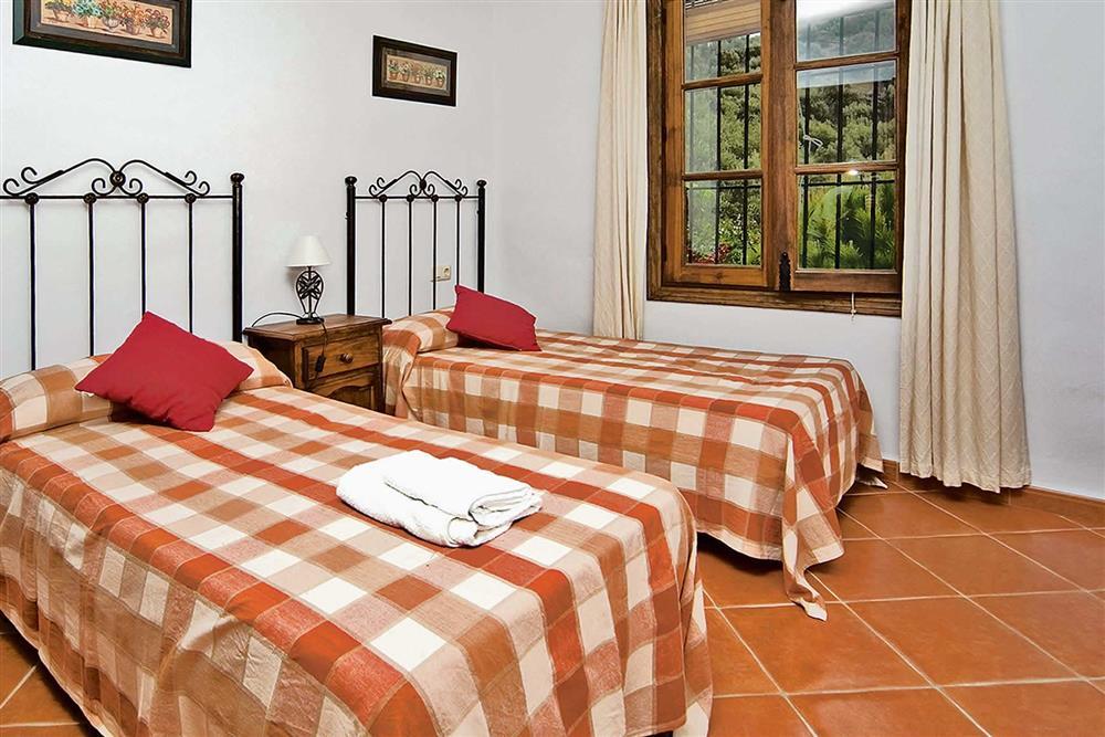 Twin bedroom at Villa Casa Jorge, Frigiliana, Andalucia, Spain