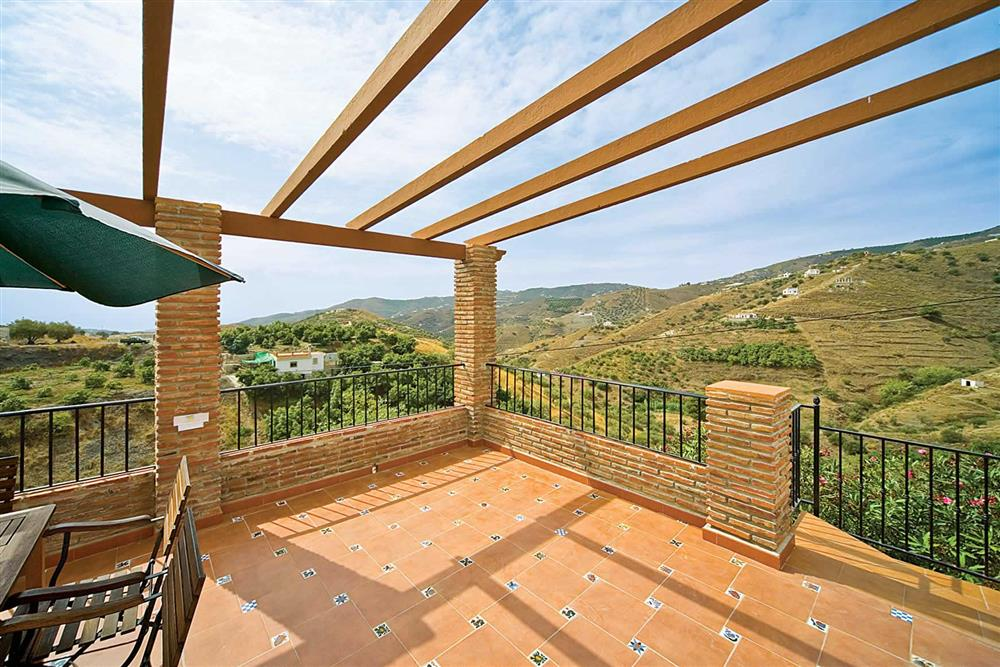 View, pergola at Villa Casa Jorge, Frigiliana, Andalucia, Spain