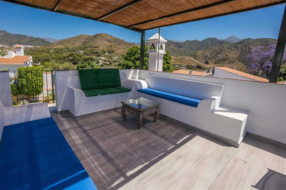 Seating area, view at Villa Casa Linda, Nerja, Andalucia