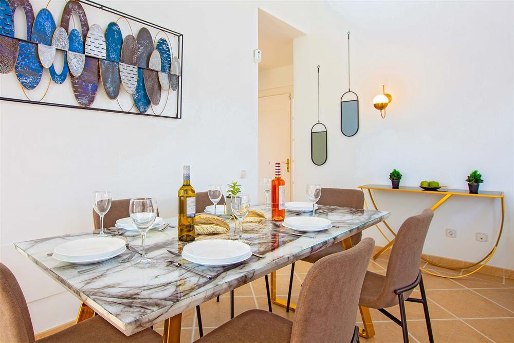Dining room at Villa Cindy, Playa Blanca, Lanzarote