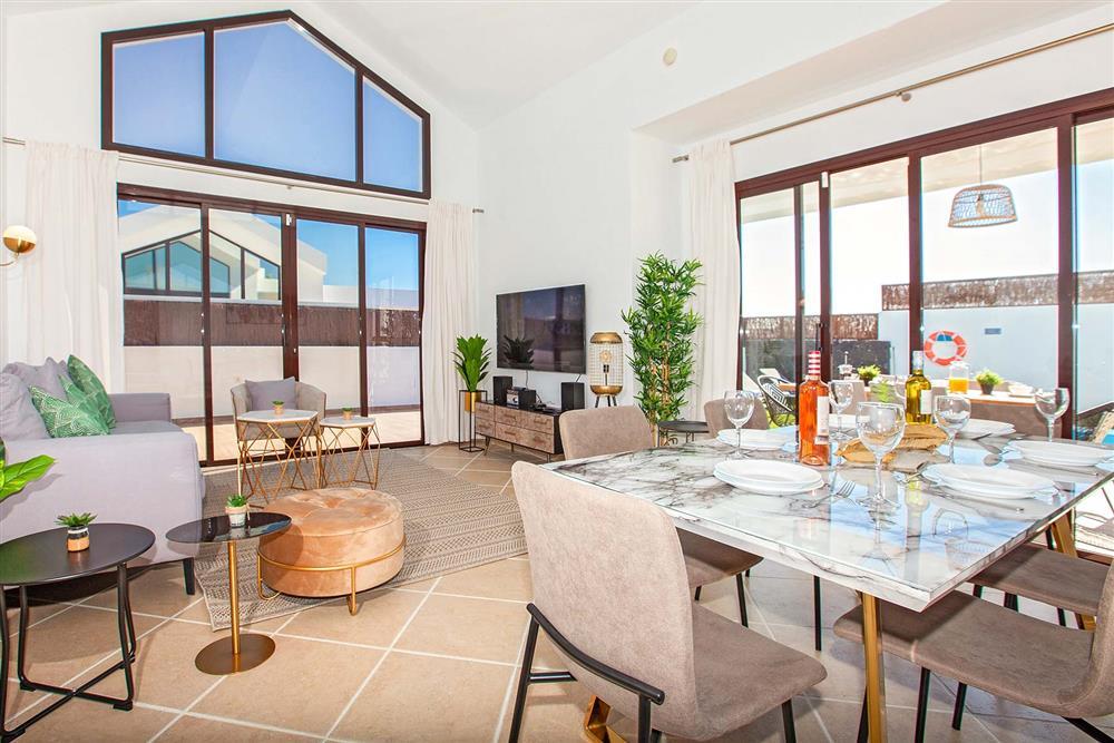 Living room at Villa Cindy, Playa Blanca, Lanzarote