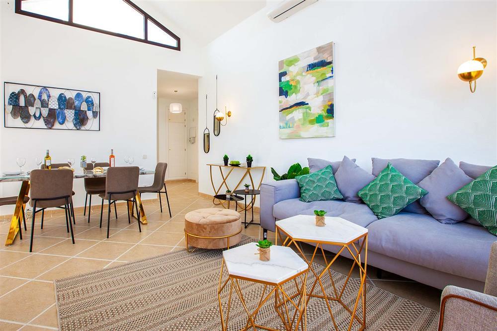 Lounge, dining room at Villa Cindy, Playa Blanca, Lanzarote