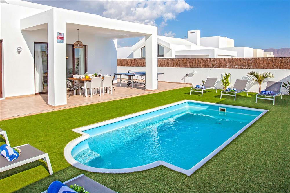 Swimming pool at Villa Cindy, Playa Blanca, Lanzarote