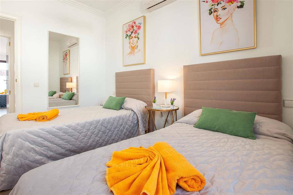 Twin bedroom at Villa Cindy, Playa Blanca, Lanzarote