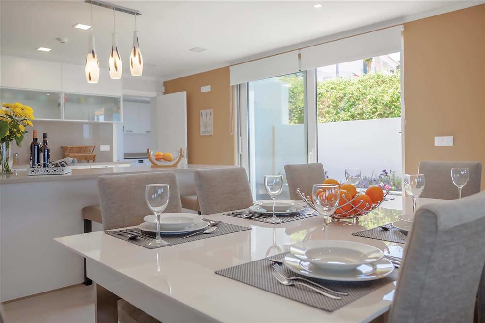 Dining room, kitchen at Villa Clementina, Funchal, Madeira