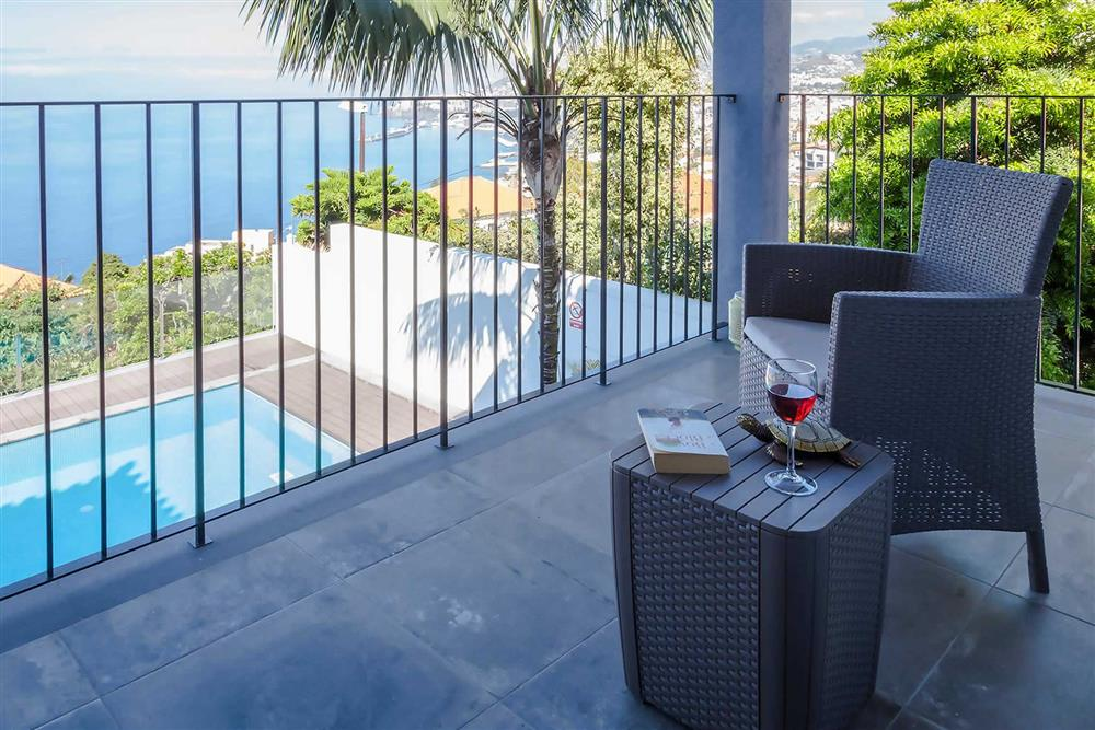 View, alfresco dining, pool at Villa Clementina, Funchal, Madeira