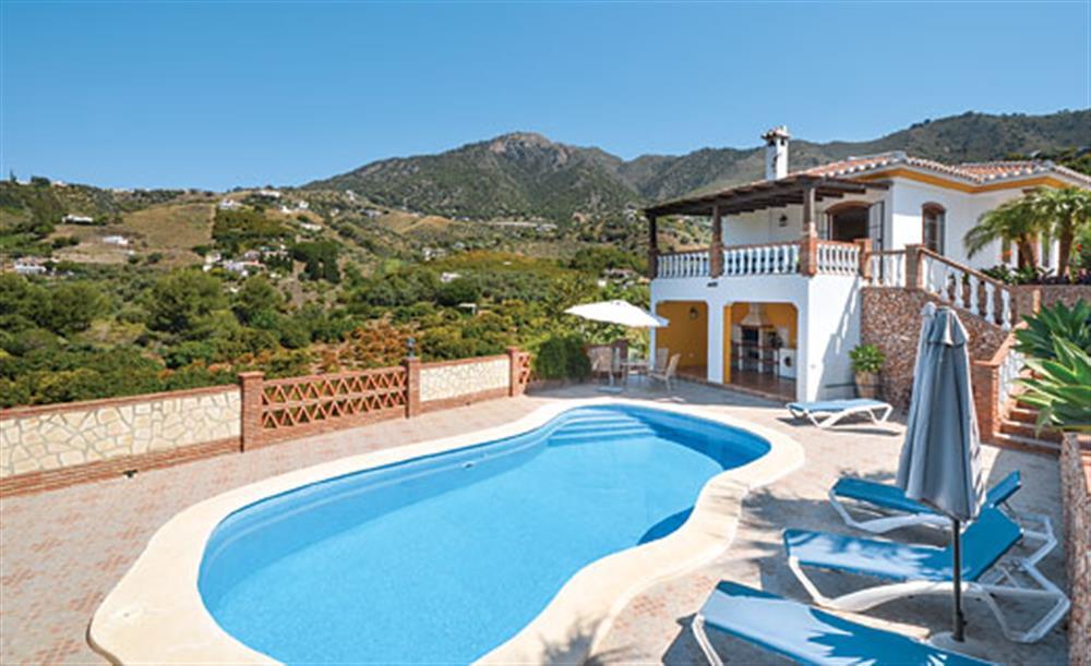 Swimming pool and garden at Villa Conchi, Frigiliana, Andalucia