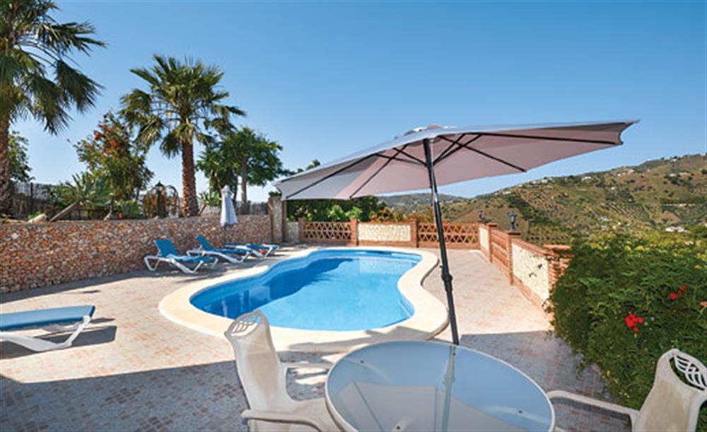 Swimming pool at Villa Conchi, Frigiliana, Andalucia